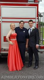 Ashley Marchetti drove the couple to the Prom.