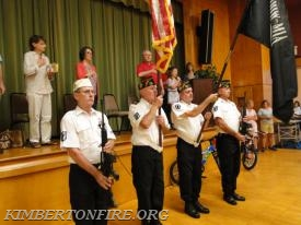Phoenixville VFW Post 1564 presented the Colors at the opening ceremonies.