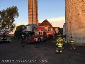 The new Tower 61 is brought in to inspect the Silo.
