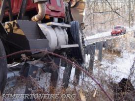 Diesel spills from tank.