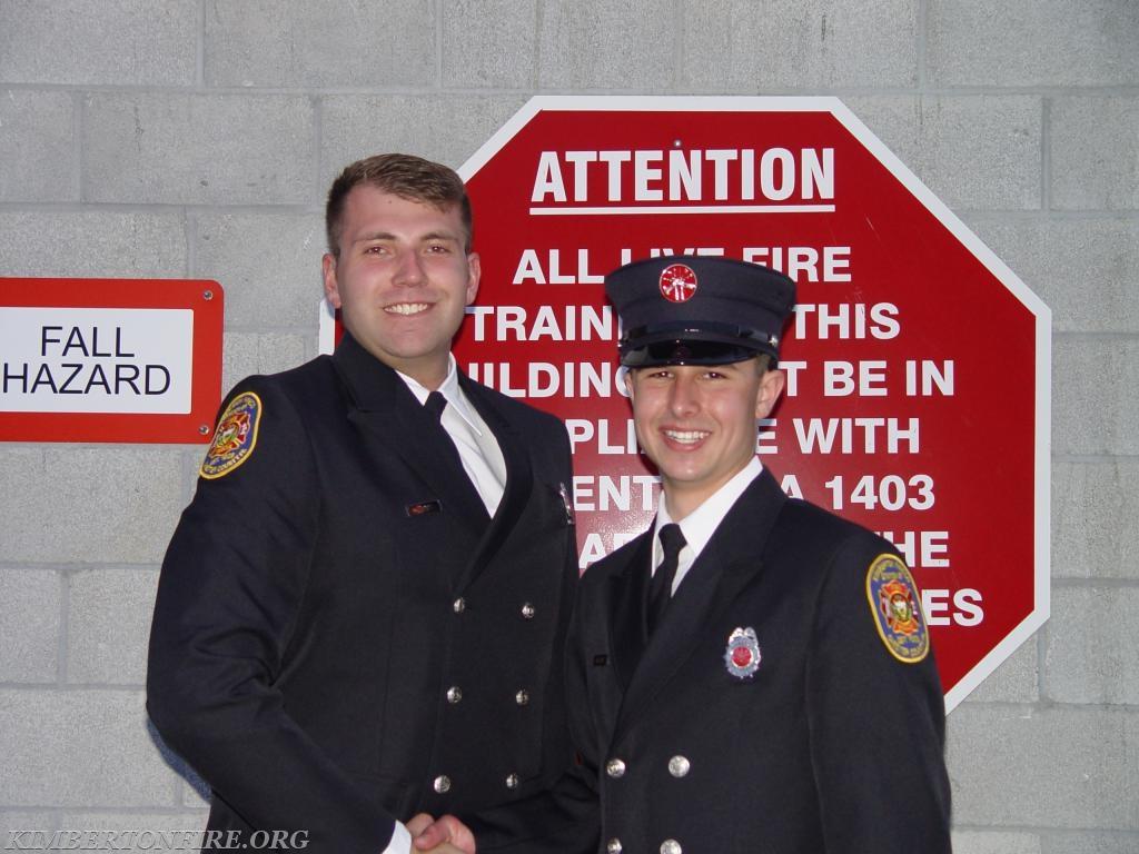 Lieutenant Cody Gable with Tyler