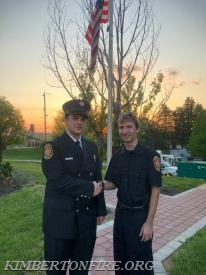CJ with Firefighter Luke Steplewski