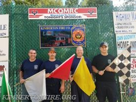 Kimberton FD members pose at MCQMRC event.  L-R:  Paul Jorgensen, Lieut Bryan Sims, Captain Dave Smith and CJ Kronmuller