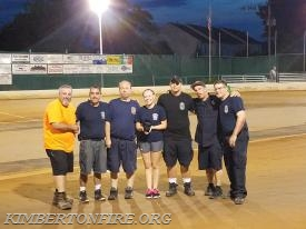 Fire Crew L-R:  Paul Jorgensen, Dave Smith, Samantha Gable, CJ Kronmuller, Bryan Sims, Denis Brenan