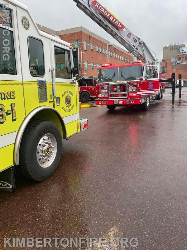 Tower 61 set up at the Phoenixville Hosp Medical Building #2