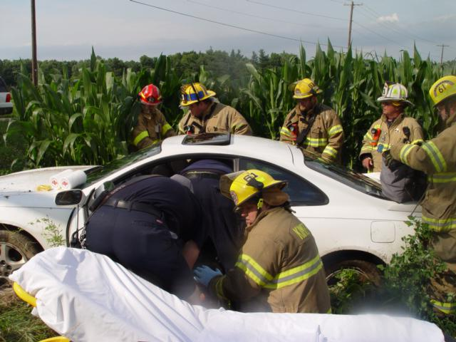 Call Corn Field Car Accident